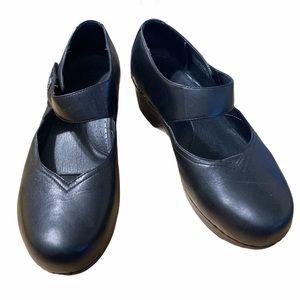 Dansko Mary Jane Tandy Heels Black Leather